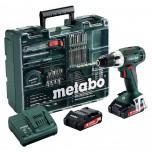 Шуруповерт аккумуляторный METABO BS 14.4 c набором оснастки