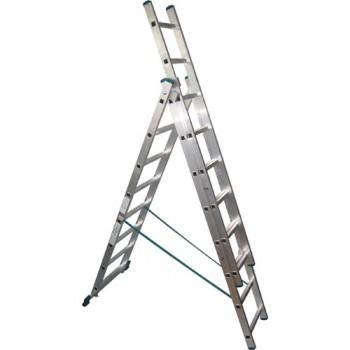 Лестница-стремянка трехсекционная, 11 метров